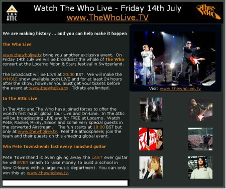The Who Live Streaming
