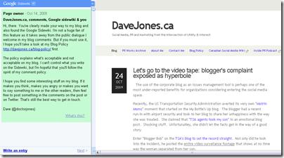 Dave Jone Sidewiki