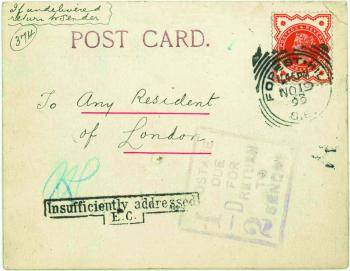 Postcard from W Reginald Bray to