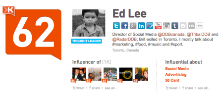 Klout - Ed Lee