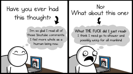 The Oatmeal YouTube Comments